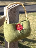 Purse with Bamboo Handles