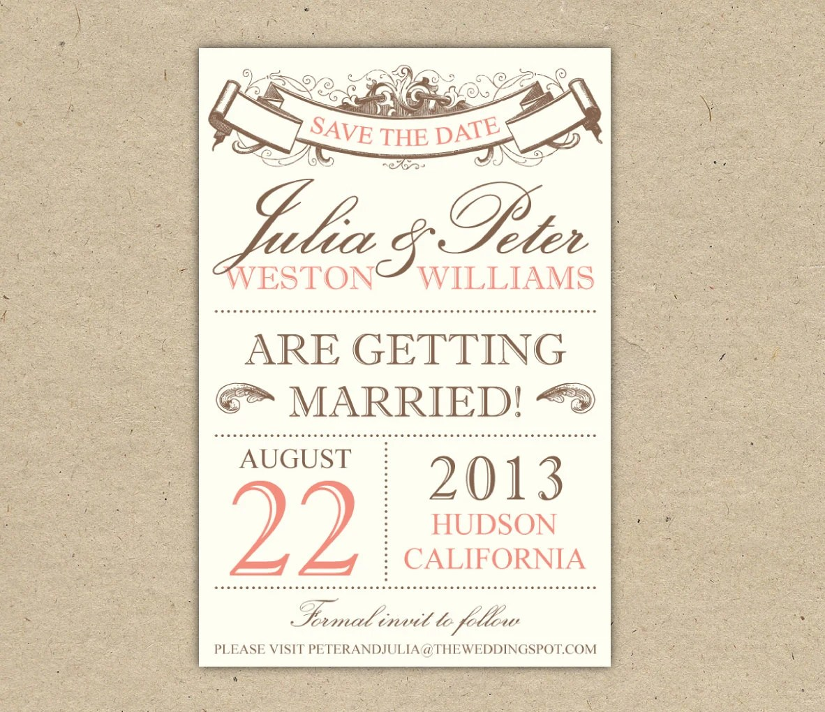 Save Date Templates