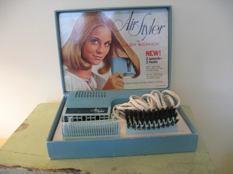 Vintage 1970s Hair Dryer And Brush Air Styler