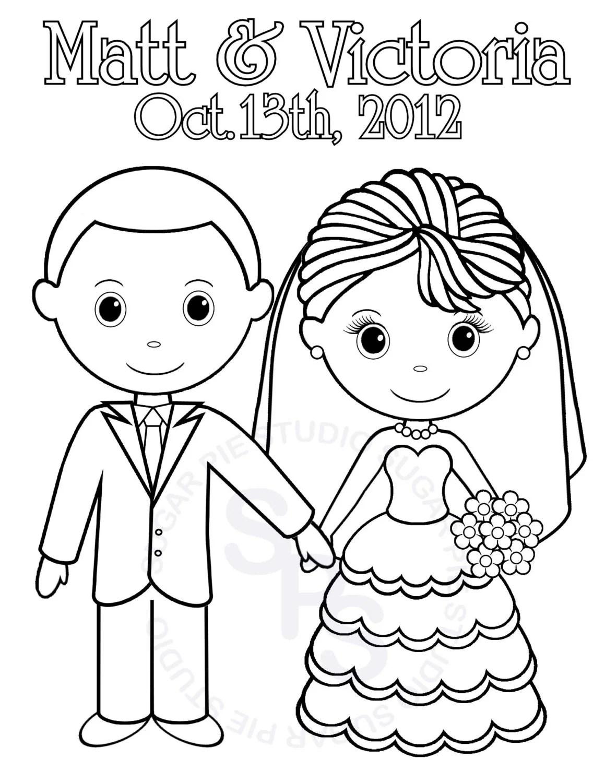 Personalized Printable Bride Groom Wedding By Sugarpiestudio