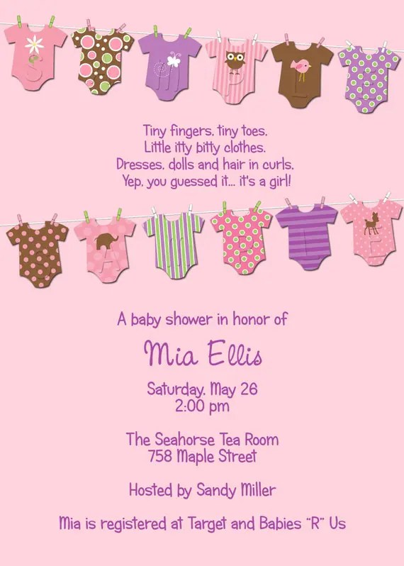 Customize Your Own Baby Shower Invitation