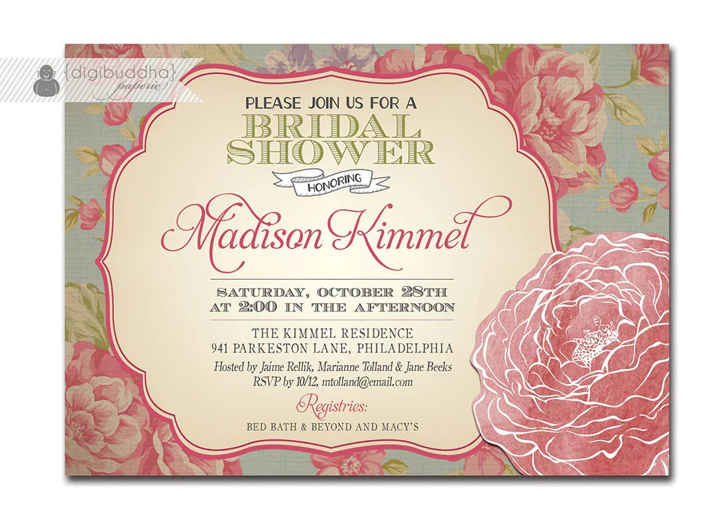 Country Shower Invitation Chic Template
