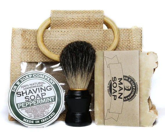 Fathers Day Gifts Shaving Set Mens Gift Set by drksoapcompany