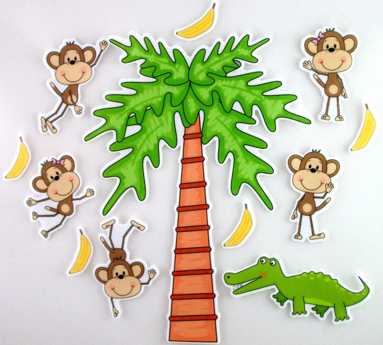 Five Little Monkeys Swinging From A Tree Felt Board By Bymaree