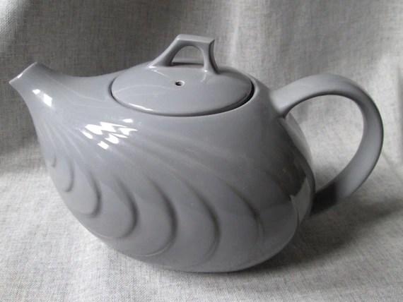 Japanese grey swirl teapot
