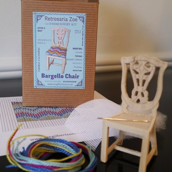 Tiny Tapestry Kit - Bargello Chair