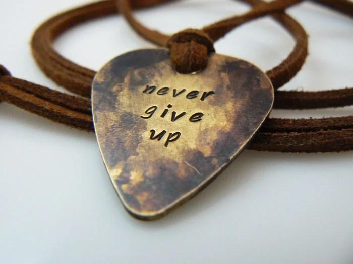 Necklace Pick Personalized Men Guitar