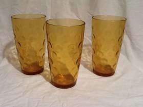 Amber Yellow circle ring pattern glasses