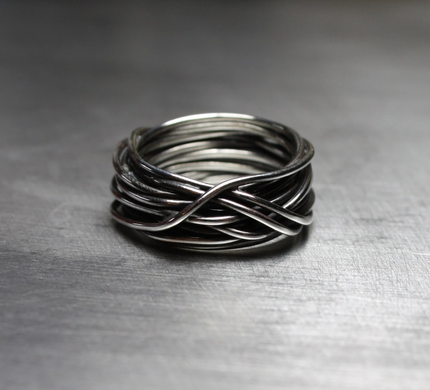 Mens Ring Mens Wedding Band Wire Wrapped Ring By