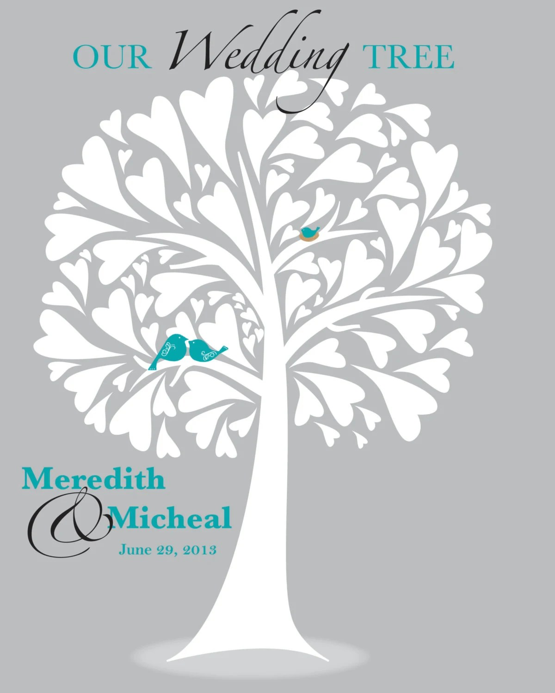 ... Wedding Tree Housewarming or Anniversary Gift OnePaperHeart