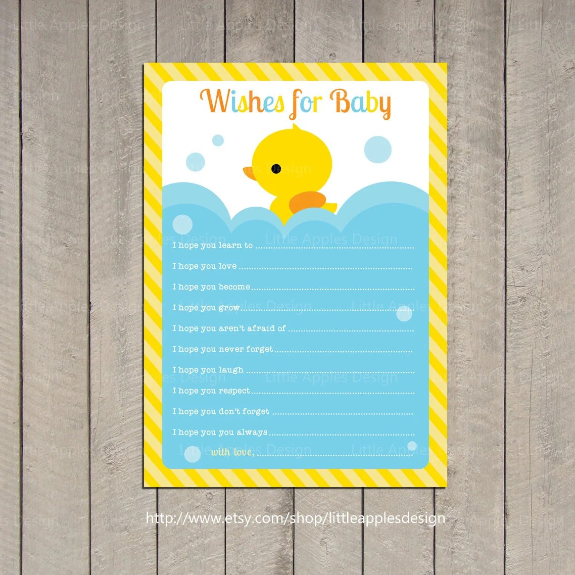 Wishes For Baby Rubber Duck Wishes For Baby Rubber Duck
