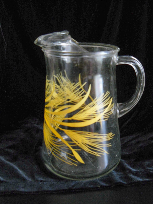 GOLDEN WHEAT Glass Vintage PITCHER - Haute Juice