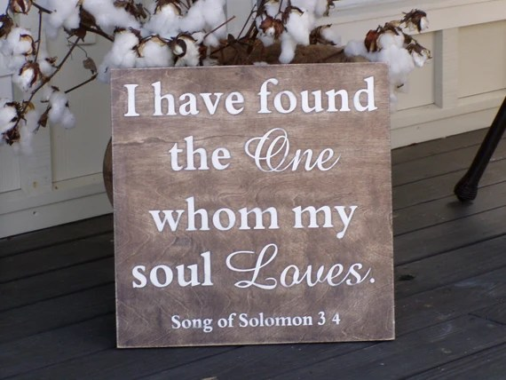 Download Items similar to I have found the one whom my soul loves ...