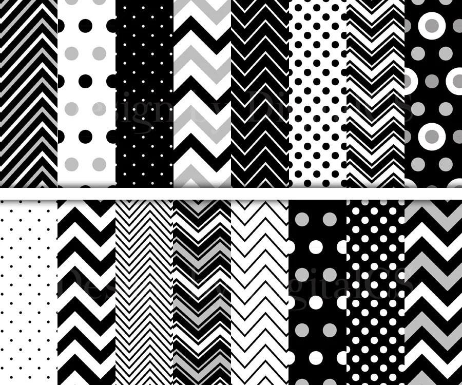 Chevron White Paper Digital And Black