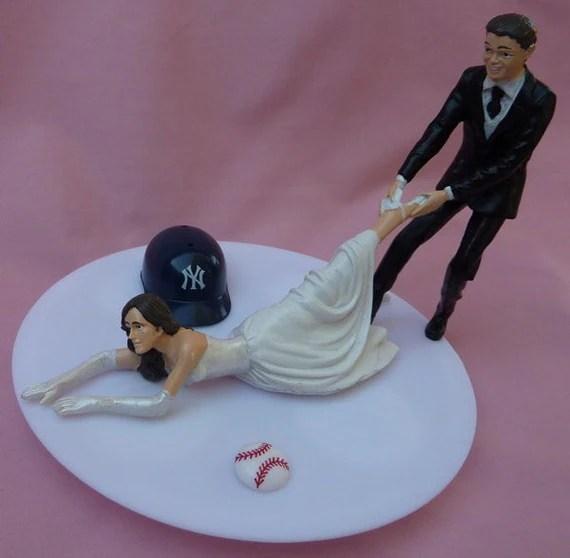 Wedding Cake Topper New York Yankees NY G Baseball By WedSet