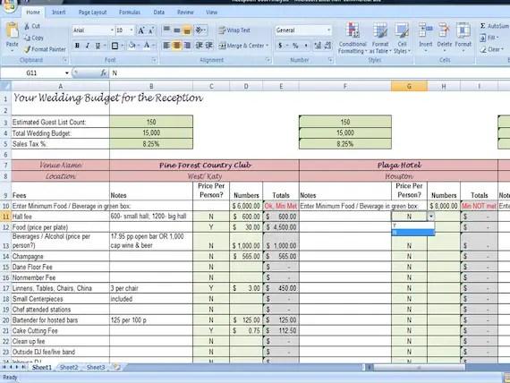 Printable Wedding Checklist Planner
