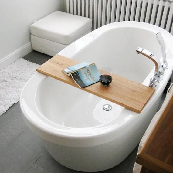 Wood Bathtub Caddyplattertray Of Salvaged Wood Spa Natural