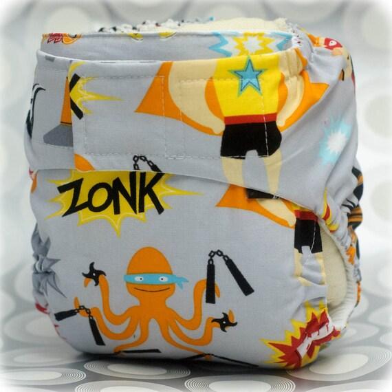 Cloth Diaper Cover Superhero Size Medium