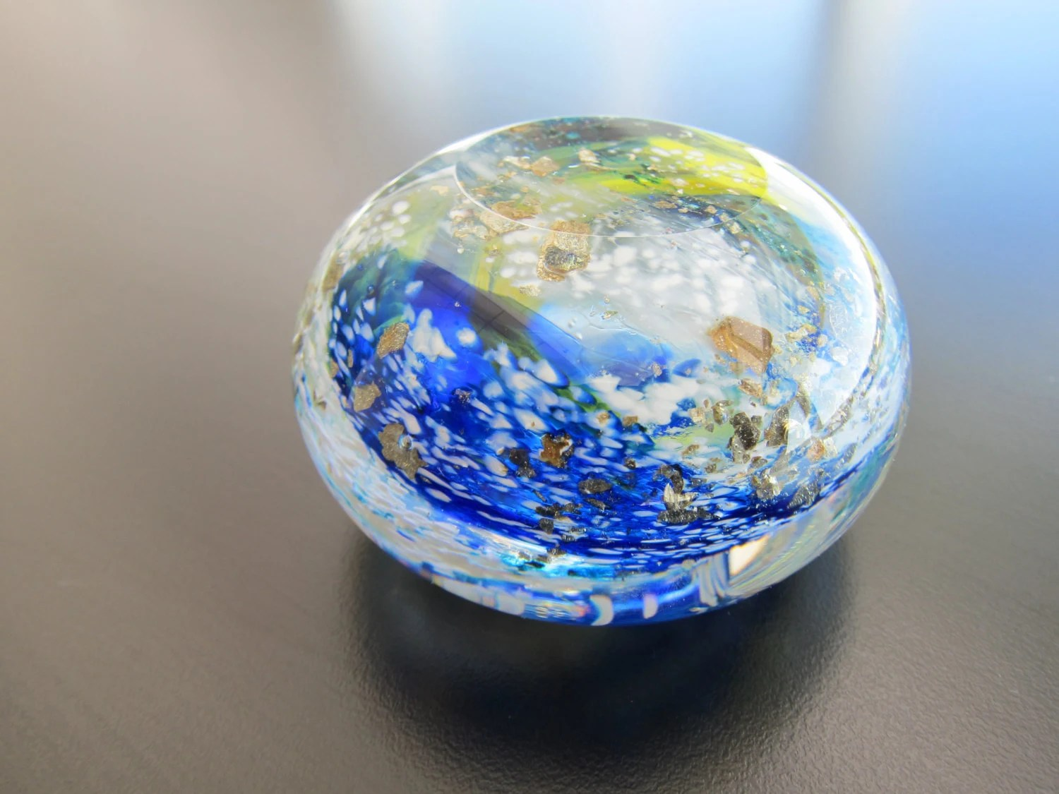 Glass Earth Paperweight - nautical2004
