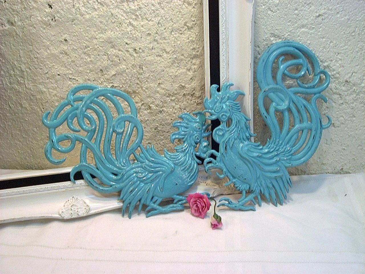 Vintage Metal Iron Rooster Kitchen Wall Decor Hot New Color