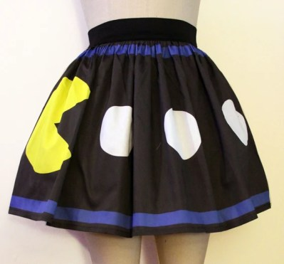 Printed Pacman and Ghost Skirt