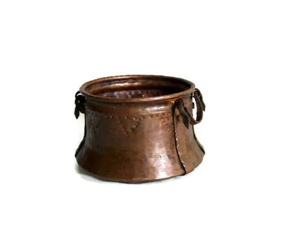Dovetail Antique Copper CAULDRON MINI Pot DOVE Tail Seam