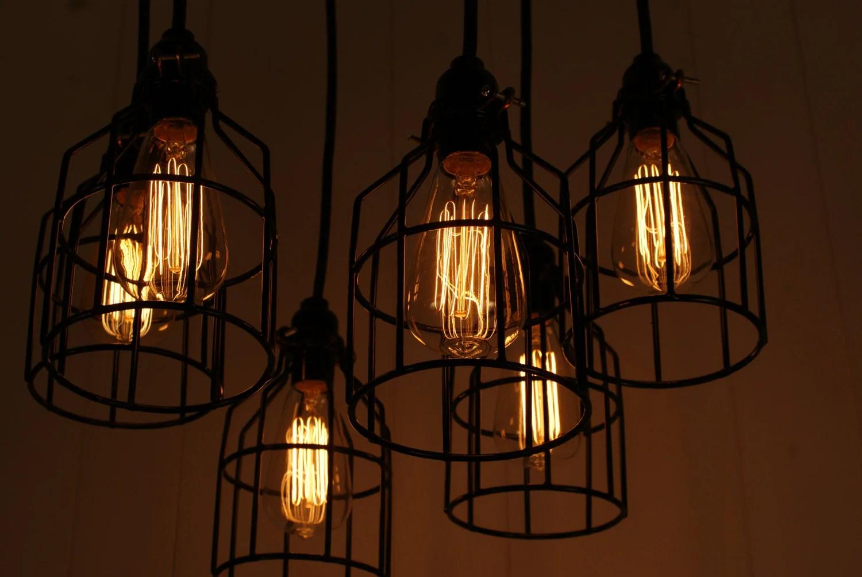 Industrial Lighting Industrial Chandelier Black With