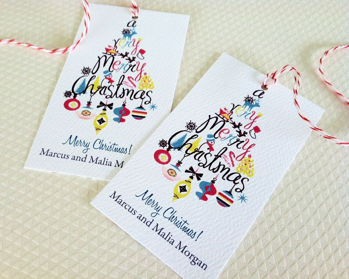 Christmas Gift Tags Personalized Holiday Tags Gift Tags Set