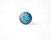 FREE WORLDWIDE SHIPPING - Turquoise Blue Sparkle Ring - Glitter jewelry - smafactory
