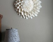 Book Pages Wreath, Chrysanthemum, Giant Paper Flower - NodakMama