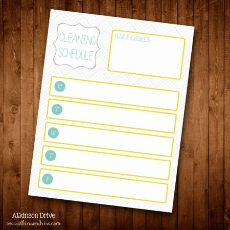 INSTANT DOWNLOAD: Printable Cleaning Schedule