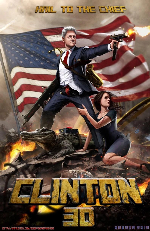 """Bill Clinton 3D HQ 24x36"""" EPIC SIZED Limited print"""