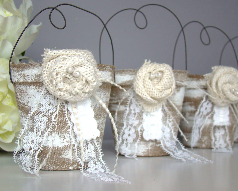 Rustic Wedding Favor Bag Set Of Four Party Favor By