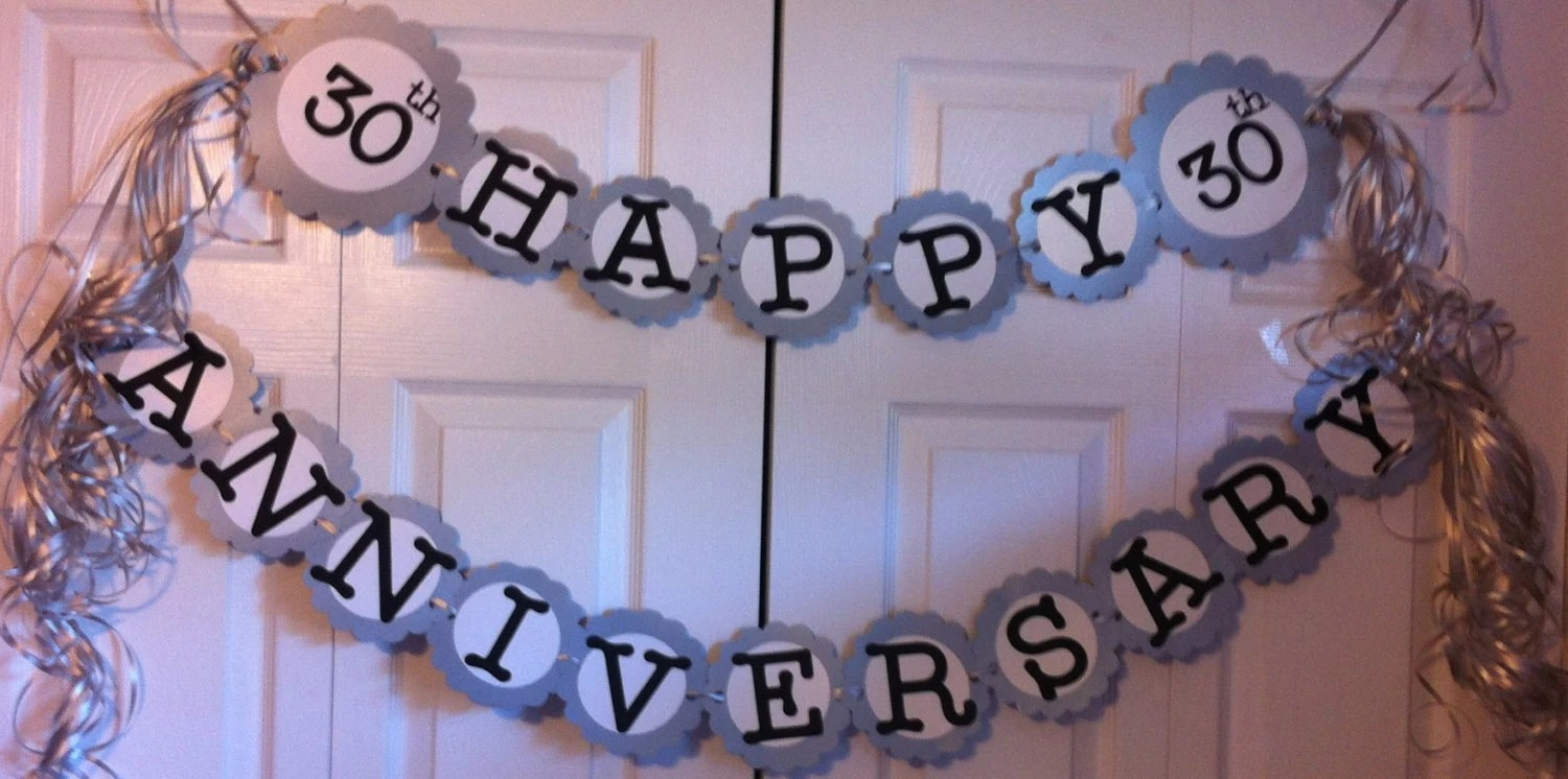 30th Anniversary Party Decorations Personalization By