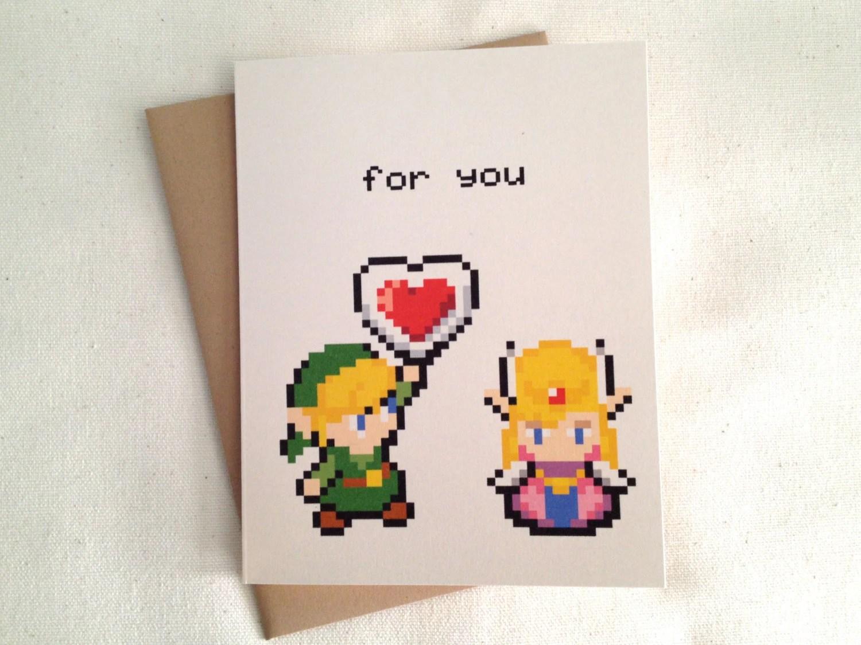 Legend Zelda Valentines Day Card