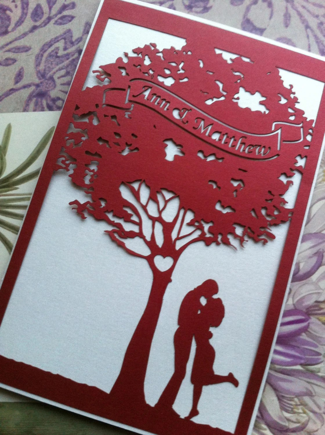 Laser Cut Out Wedding Invitations Uk