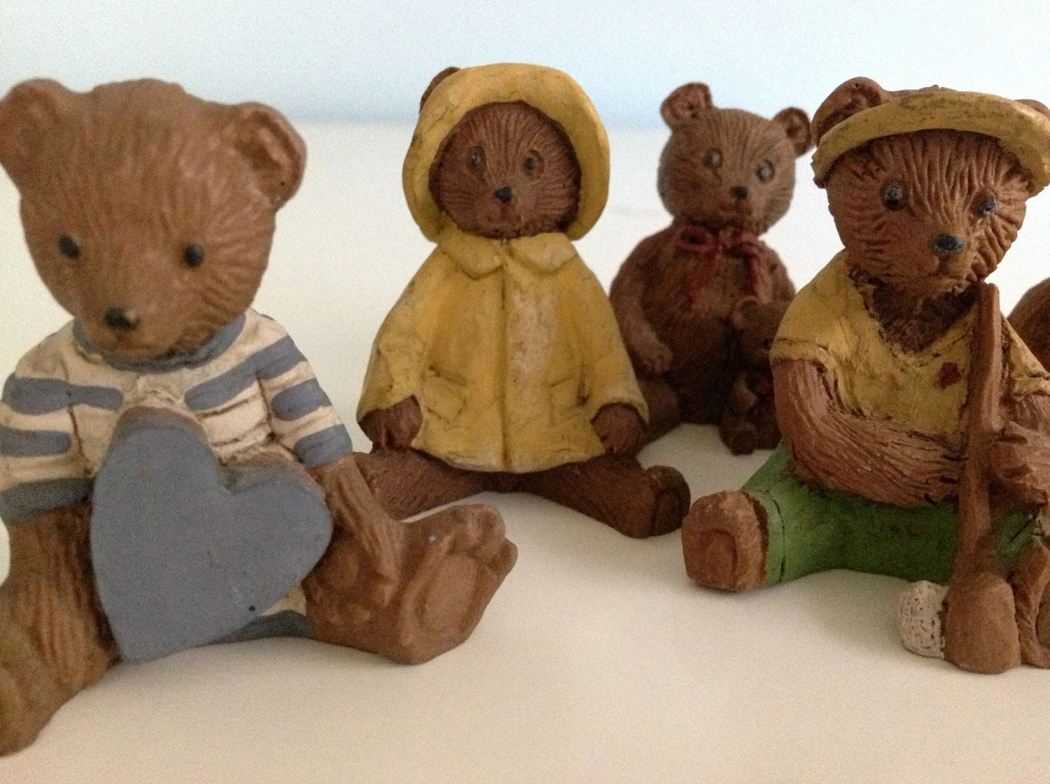 Vintage Teddy Bear Figurine Collection