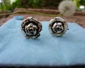 Enamel Flower Clip Earrin...