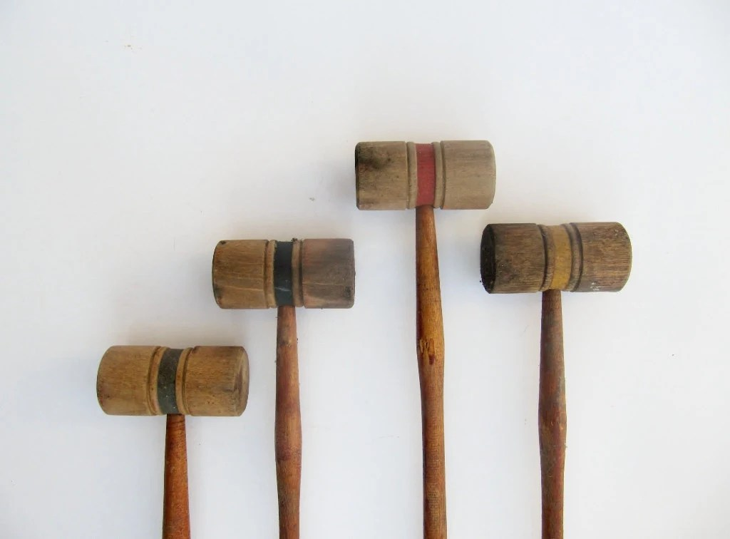 Items Similar To Antique Wooden Croquet Set On Etsy