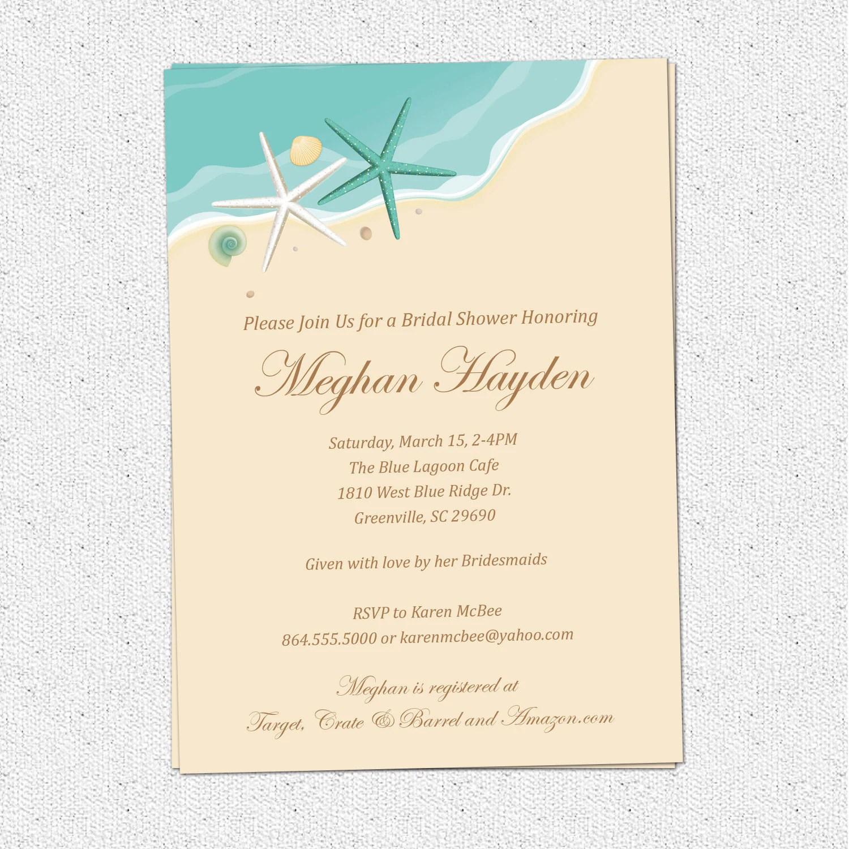 Aqua Bridal Shower Invitations