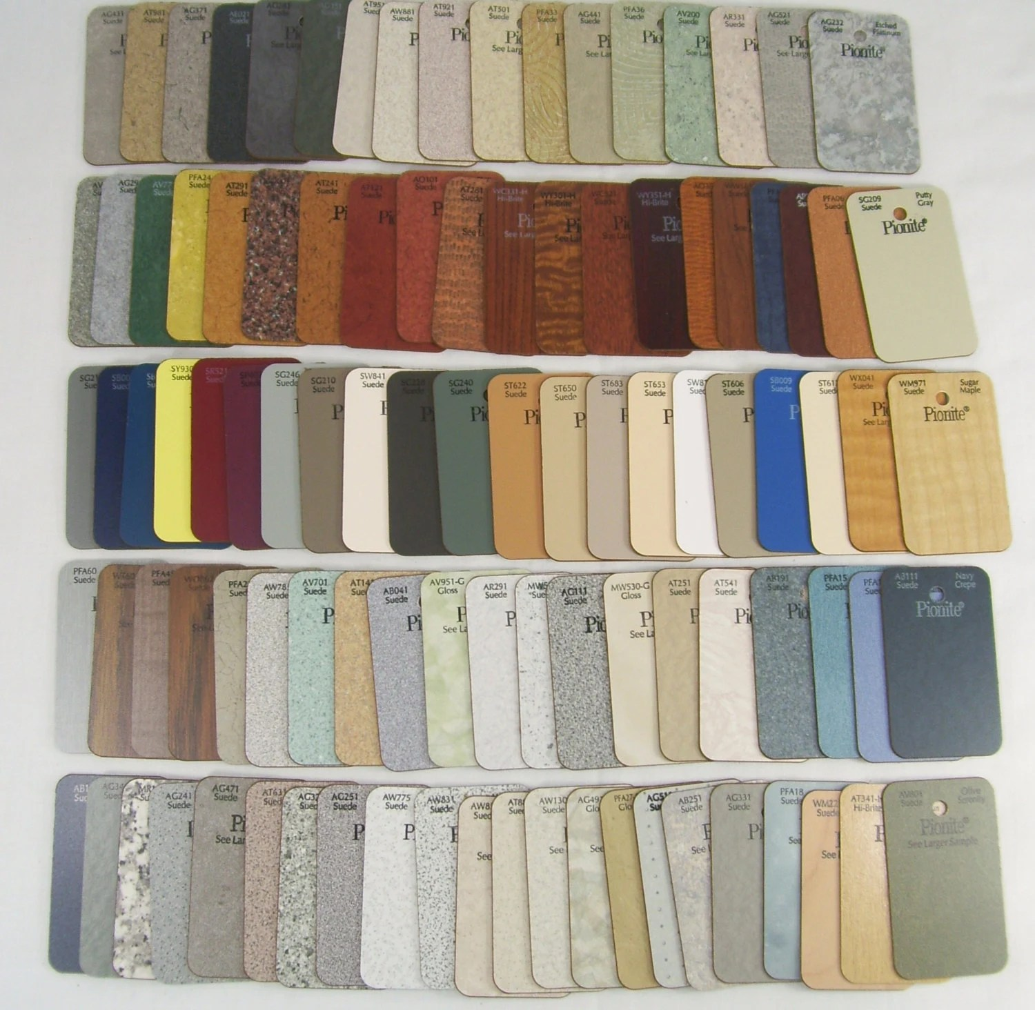 Pionite Laminate Samples