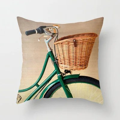 bicycle pillow on etsy at Andrekart