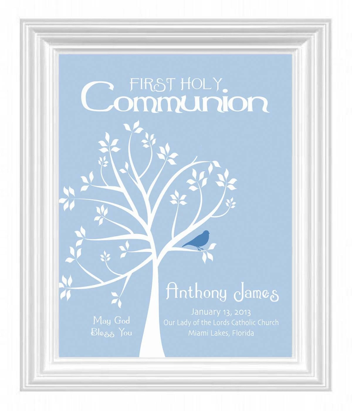 Communion Personalized T First Holy Communion Print Boys