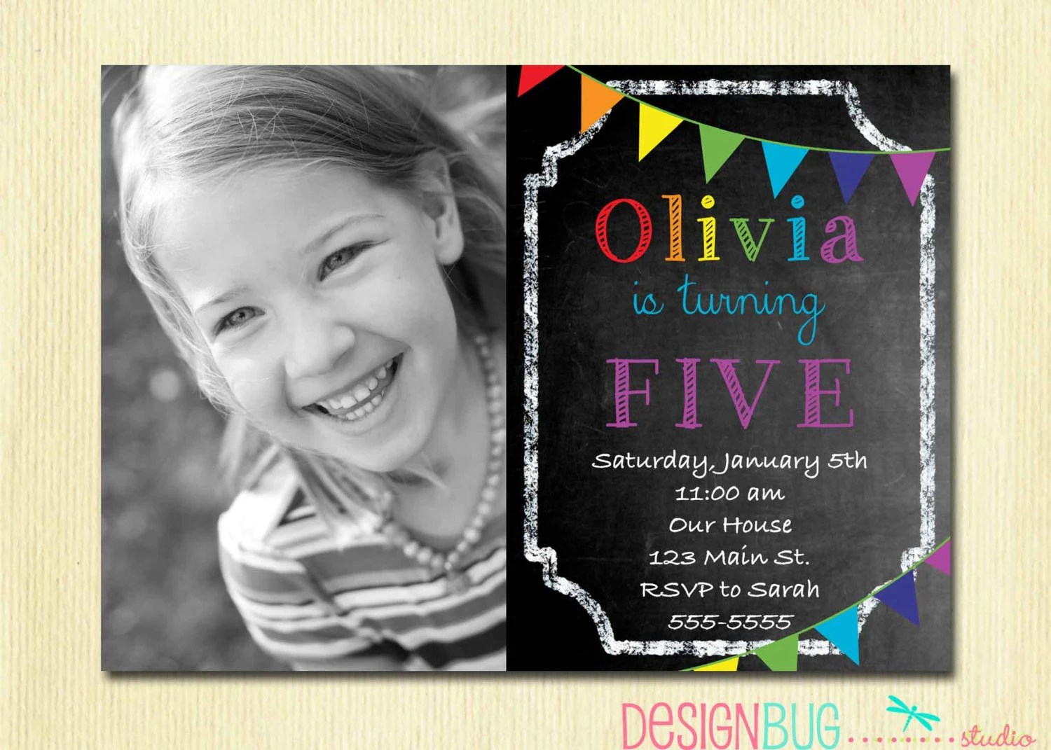 Birthday Invitations 4 Year Old