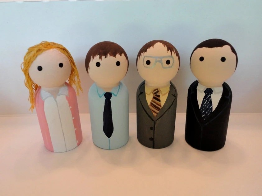The Office Wooden Peg Dolls