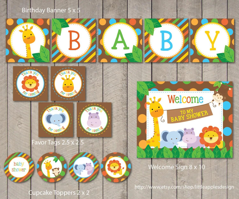 Safari Baby Shower Package Safari Baby Shower Pack Safari