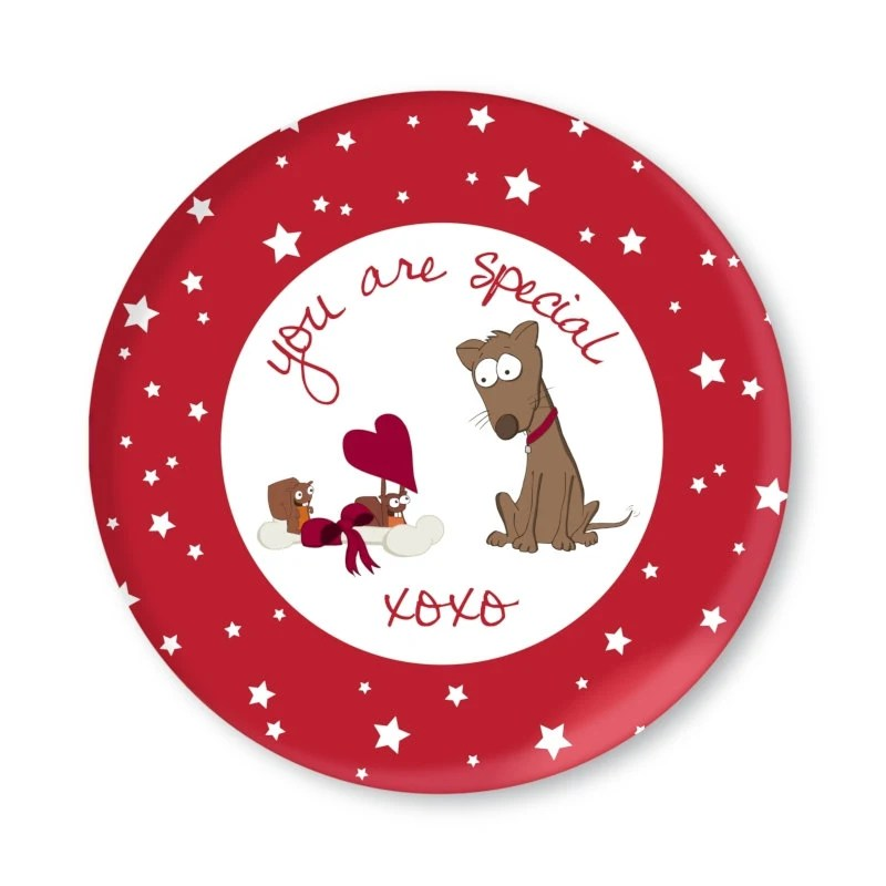 You are Special Squirrels and Dog Children's Plate xoxo - littlesmartypantz