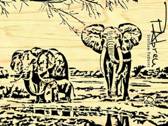Elephant Scroll Saw Intarsia Patterns