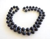 Vintage Black Bead Neckla...