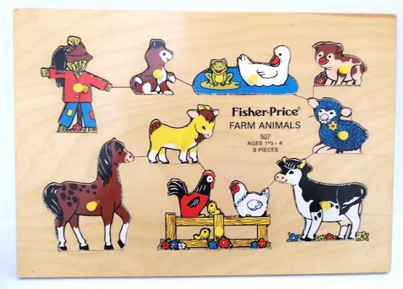 Vintage Fisher Price Farm Animals